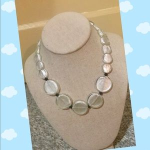 Jewelry - White painted glass necklace